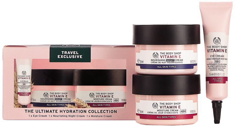 The Body Shop The Body Shop Vitamin E Ultimate Hydration Collection Eye Cream 15 Ml Nourishing Night Cream 50 Ml Moisture Cream 50 Ml 5028197917418